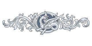 Dragon Frame Ornament Fotografía de archivo libre de regalías