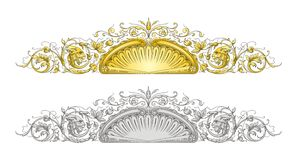 Dragon Frame Ornament. Vector Illustration of Dragon Frame Ornament Royalty Free Stock Photography