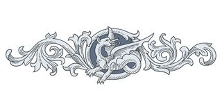 Dragon Frame Ornament Royalty Free Stock Photography