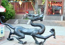 Dragon in front of Dao Temple stock photography