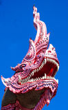 Dragon in front of the temple Royalty Free Stock Images