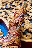 Dragon in front of the temple. Thailand Royalty Free Stock Images