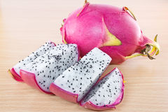 Dragon fruit. On wooden cutting board Stock Image