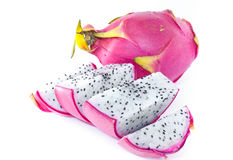 Dragon fruit. Isolated on white background Royalty Free Stock Photos