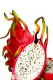 Dragon Fruit. Isolated image of freshly sliced dragon fruit stock photos