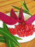 Dragon Fruit. This is also called Pitaya Roja stock photos