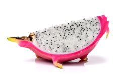The Dragon Fruit. Is also known as pitaya, pitahaya, huo long Royalty Free Stock Photos