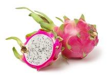 The Dragon Fruit is also known as pitaya, pitahaya, huo long guo, strawberry pear, nanettikafruit or Thanh Long, royalty free stock photos