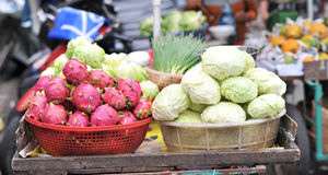 Dragon fruit and Cabbage Stock Image