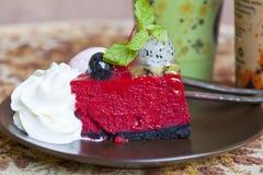 Dragon fruit cake Royalty Free Stock Image