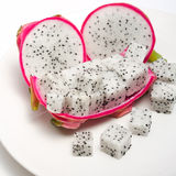 Dragon fruit close up on white background Stock Photo