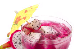 Dragon fruit dessert Royalty Free Stock Images