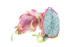 Dragon Fruit/Dragon Fruit isolated against white background Stock Image