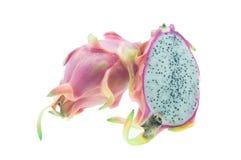 Dragon Fruit/Dragon Fruit tegen witte achtergrond wordt geïsoleerd die Stock Afbeelding