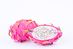 Dragon fruit dragonfruit or dessert pitaya on white background healthy dragon fruit food isolated Royalty Free Stock Photography