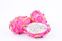 Dragon fruit dragonfruit or pitaya on white background healthy dragonfruit organic  food isolated Stock Image