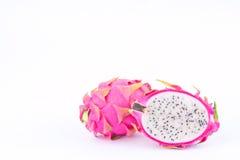 Dragon fruit dragonfruit or pitaya on white background healthy dragonfruit organic  food isolated Royalty Free Stock Photos