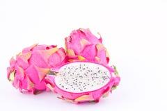 Dragon fruit dragonfruit or pitaya on white background healthy dragonfruit organic  food isolated Stock Photo