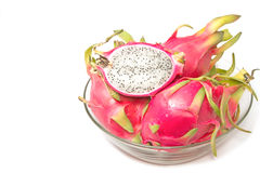 Dragon fruit in glass bowl Royalty Free Stock Photo