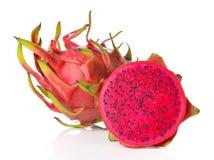 Dragon Fruit ha isolato contro fondo bianco Fotografie Stock