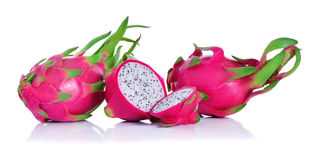 Dragon Fruit ha isolato il fondo bianco fotografie stock
