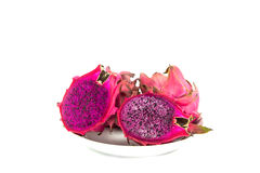 Dragon Fruit isolated against white background Stock Photo