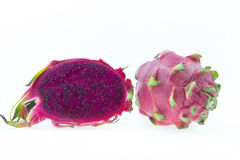 Dragon Fruit isolated against white background Royalty Free Stock Image