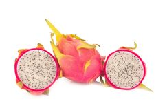 Dragon Fruit isolated against white background Royalty Free Stock Images