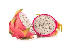 Dragon Fruit isolated against white background.  Stock Images