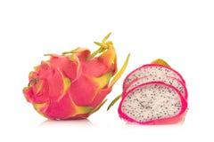 Dragon Fruit isolated against white background Stock Photography