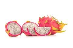 Dragon Fruit isolated against white background Stock Photos