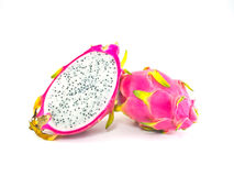 Dragon Fruit isolated. On white background Royalty Free Stock Photography