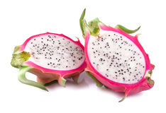 Dragon Fruit isolated on white Stock Image
