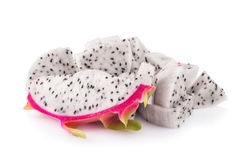 Dragon fruit isolated on white background Royalty Free Stock Photos