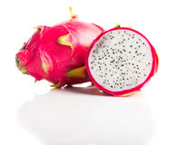 Dragon Fruit isolated  white background. Stock Photo