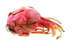 Dragon fruit isolated. On the white background Royalty Free Stock Images