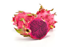Dragon Fruit isolated on white background. (Pitaya Fruit) Royalty Free Stock Photography