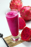 Dragon fruit juice Stock Photo