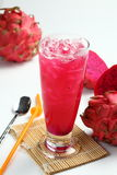 Dragon fruit juice Stock Photography