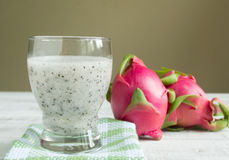 Dragon fruit juice Stock Images