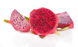 Dragon Fruit lokalisierte gegen weißen Hintergrund Lizenzfreie Stockbilder