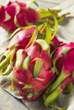 Dragon Fruit orgânico vermelho cru imagem de stock