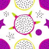 Dragon fruit pattern vector illustration