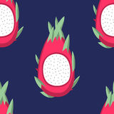 Dragon Fruit Pattern. A seamless pattern of sliced dragon fruit Royalty Free Stock Images
