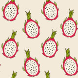 Dragon fruit pattern, vector Illustration Stock Photography