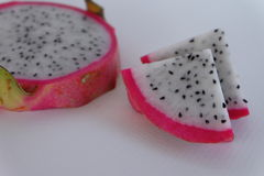 Dragon fruit piece. Healthy fruit, benefit vitamin seed diet Royalty Free Stock Photography