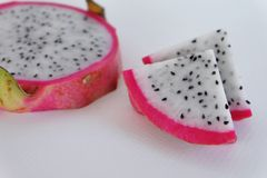 Dragon fruit piece. Healthy fruit, benefit vitamin seed diet Royalty Free Stock Image