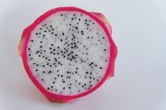 Dragon fruit piece. Healthy fruit, benefit vitamin seed diet Royalty Free Stock Images