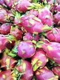 Dragon fruit. Pile of dragon fruit at supermarket Royalty Free Stock Image