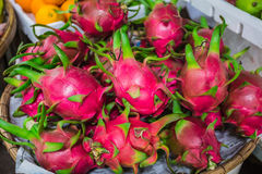 Dragon fruit, Pitaya (geow mangon) Royalty Free Stock Images